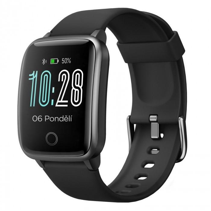 """Chytré hodinky Chytré hodinky Umax Band P2, 1,3"""", CZ, IP68, černá"""