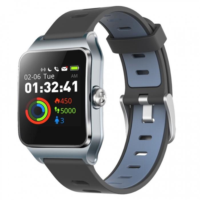 Chytré hodinky Chytré hodinky Umax U-Band P1 PRO s měřením tepu, šedá/stříbrná