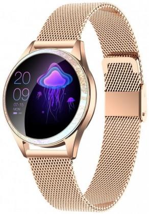 Chytré hodinky Dámské chytré hodinky Armodd Candywatch Crystal, zlatá