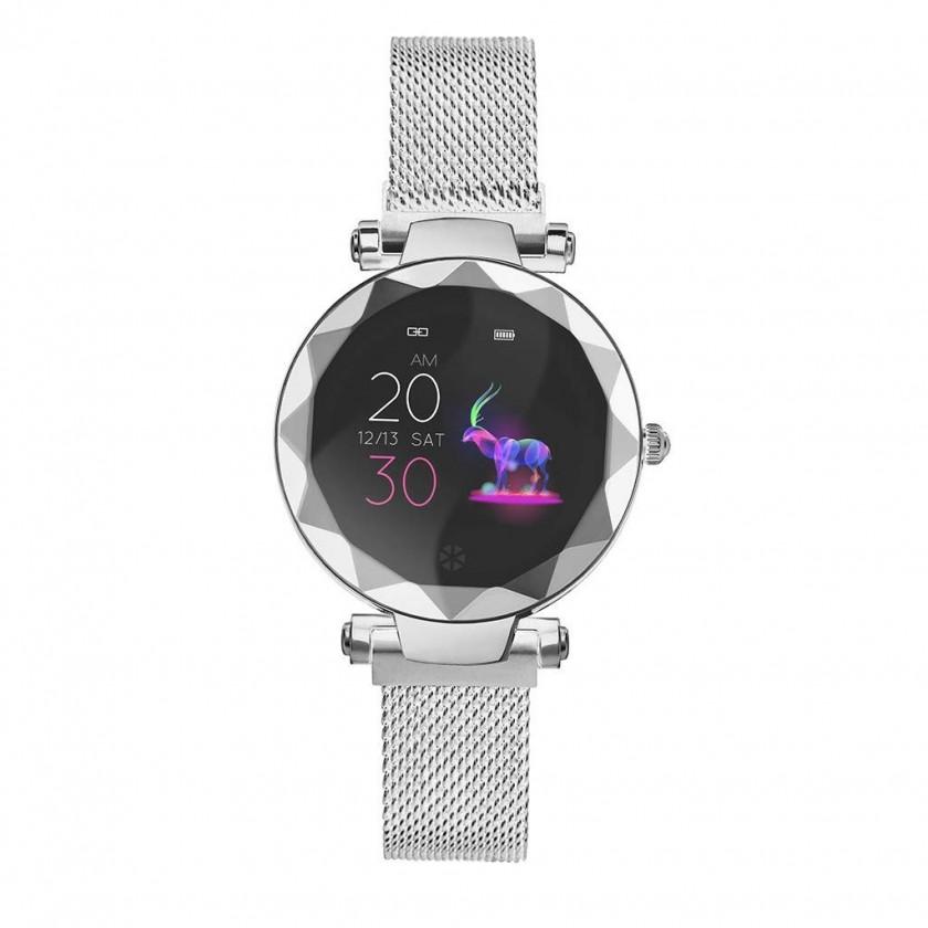 Chytré hodinky Dámské chytré hodinky Immax SW12, mag. řem., stříbrná, POUŽITÉ