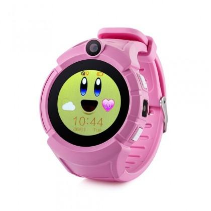 Chytré hodinky Dětské chytré hodinky GW600 s GPS, růžová