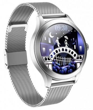 Chytré hodinky Deveroux KW10PRO, stříbrná POUŽITÉ, NEOPOTŘEBENÉ Z