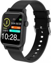 Chytré hodinky Deveroux P18, silikonový řemínek, černá