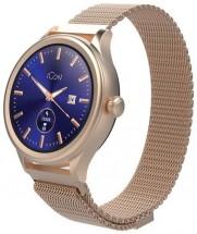 Chytré hodinky Forever Icon AW-100, zlatá
