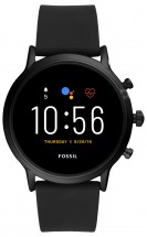 Chytré hodinky Fossil Carlyle, černá/černý silikonový řemínek