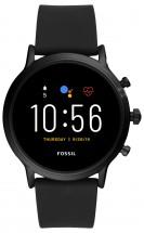 Chytré hodinky Fossil Carlyle, černá/černý silikonový řemínek POU