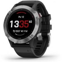 Chytré hodinky Garmin Fenix 6 Glass, stříbrná