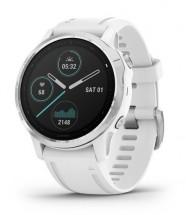 Chytré hodinky Garmin Fenix 6S Glass, bílá/stříbrná