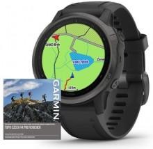 Chytré hodinky Garmin Fenix 6S Pro Sapphire, černá/šedá + Voucher