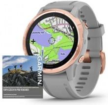 Chytré hodinky Garmin Fenix 6S Pro Sapphire, šedá/růžová