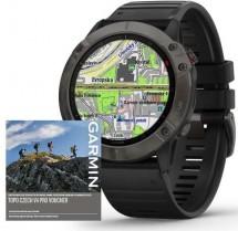 Chytré hodinky Garmin Fenix 6X Pro Sapphire, černá/šedá + Voucher