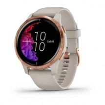 Chytré hodinky Garmin Venu, růžová/béžový řemínek