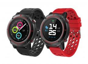 Chytré hodinky iGET Active A8, 2 řemínky, černá POUŽITÉ, NEOPOTŘE