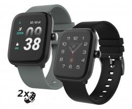 Chytré hodinky iGET Fit F25, 2x řemínek, černá
