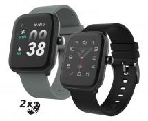 Chytré hodinky iGET Fit F25, 2x řemínek, černá POUŽITÉ, NEOPOTŘE