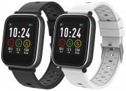 Chytré hodinky iGET Fit F3, 2 řemínky, černá