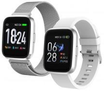Chytré hodinky iGET Fit F30, 2x řemínek, stříbrná