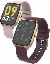 Chytré hodinky iGET FIT F45, zlatá