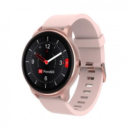 Chytré hodinky iGET Fit F60, růžová