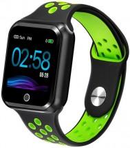 Chytré hodinky Immax SW10, černá/zelená