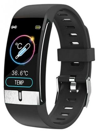 Chytré hodinky Immax Temp Fit, s měřením teploty, černá