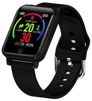 Chytré hodinky Immax Temp Watch, s měřením teploty, černá POUŽITÉ