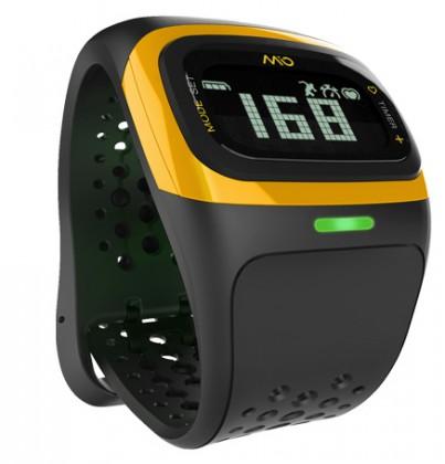 Chytré hodinky MIO Alpha 2 sportovní hodinky, senzor srdečního tepu - žluté