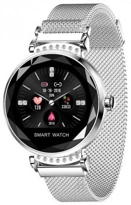 Chytré hodinky Smartomat Sparkband, stříbrná