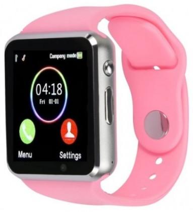 Chytré hodinky Smartomat Squarz 1, růžová