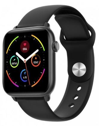 Chytré hodinky Smartomat Squarz 8 Pro, černá