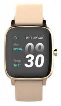 Chytré hodinky Vivax Life Fit, silikonový řemínek, zlatá