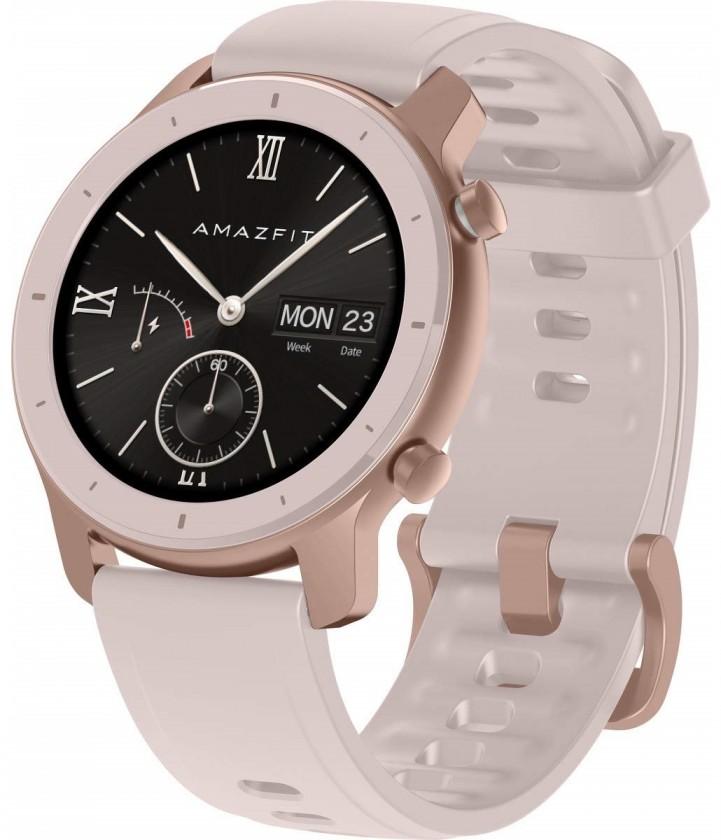 Chytré hodinky Xiaomi Amazfit GTR 42mm, růžová ROZBALENO
