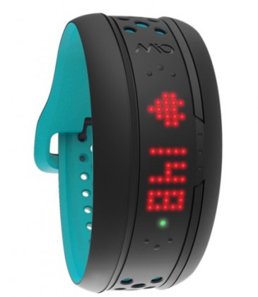 Chytré náramky MIO Fuse náramek, senzor srdečního tepu, krátký pásek - modrý