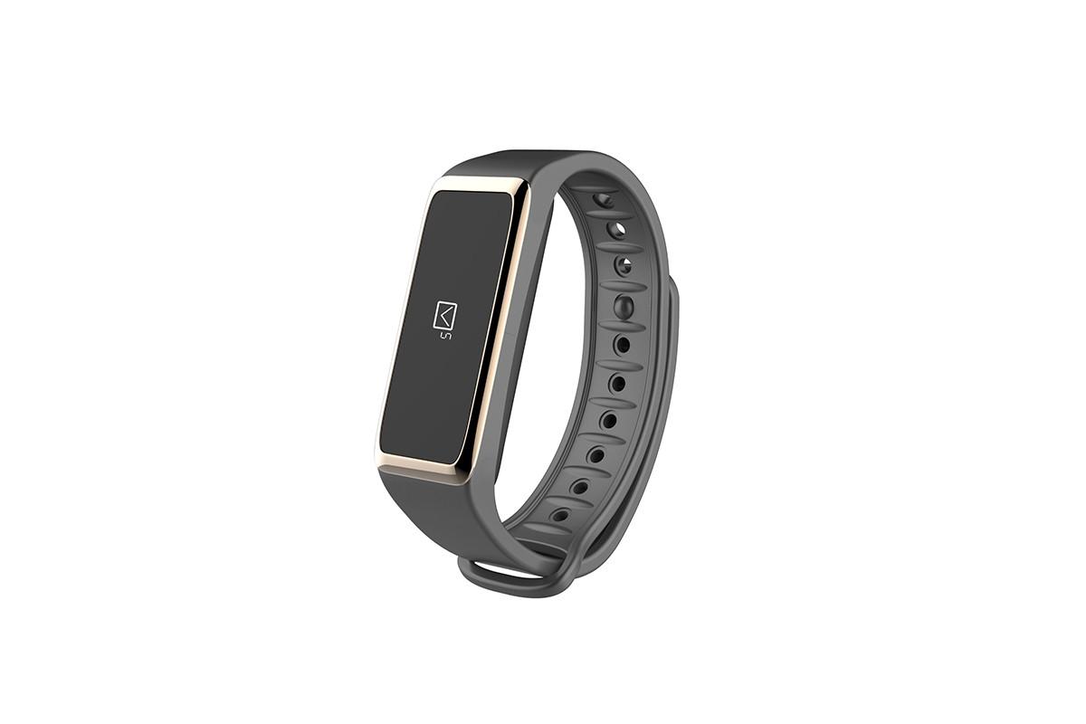 Chytré náramky MYKRONOZ ZEFIT2 fitness náramek - šedé/zlaté