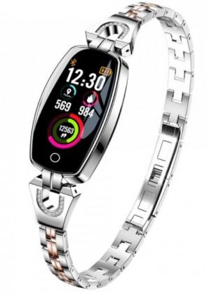 Chytrý náramek Smartomat Chicband, stříbrná