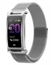 Chytrý náramek Smartomat Silentband 2, stříbrná