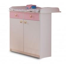 Cinderella - Přebalovací pult (bílá, růžová)