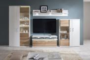 Cino - Obývací stěna kombi 01 + TV pod.(artic bílá/dub mountain)
