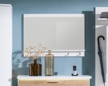 Cino - Panel se zrcadlem, 1x police, 2x háček (bílá)