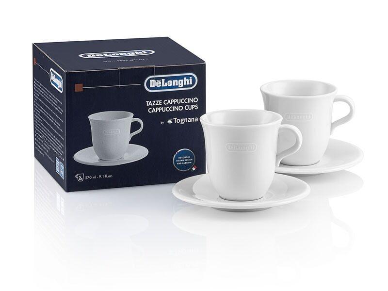 Čističe, doplňky Keramický hrníček na cappuccino DeLonghi DLSC309, 2ks