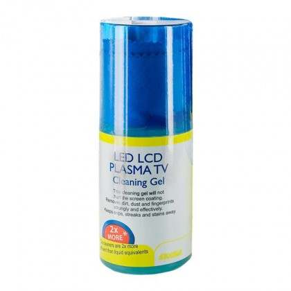 Čistící gel s hadříkem na LCD 4World, 200ml