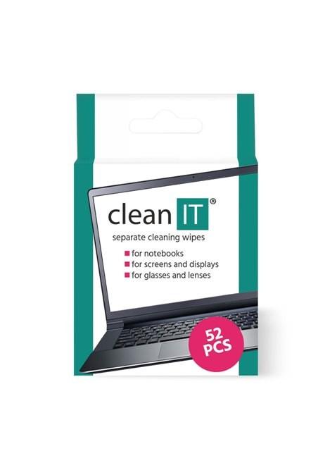 Čistící prostředky Čistící ubrousky CLEAN IT CL150, 52 ks