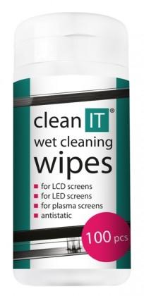 Čistící prostředky Čistící ubrousky na LCD/TFT CLEAN IT CL140, 100ks
