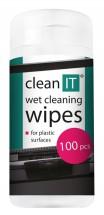 Čistící ubrousky na plasty CLEAN IT CL142, 100ks