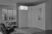 Clack - Nástavec na skříň, 2x dveře (dub, bílá)