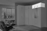 Clack - Nástavec na skříň, 3x dveře (bílá, bílá)