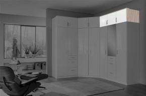 Clack - Nástavec na skříň, 3x dveře (dub, bílá)