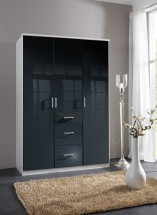 Clack - Skříň, 3x dveře (černá, bílá)