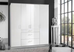 Clack - Skříň, 4x dveře (bílá, bílá)