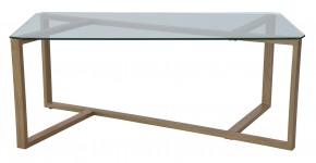Cleo - Konferenční stolek, obdélník (sklo, kov)